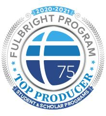 Fulbright 2020-2021 top producer badge.